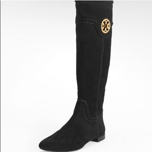 Tory Burch Selma Suede Knee High Boots